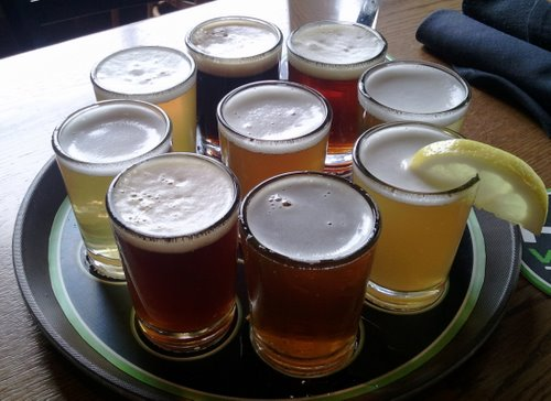 Hop Valley Brewing beer sampler
