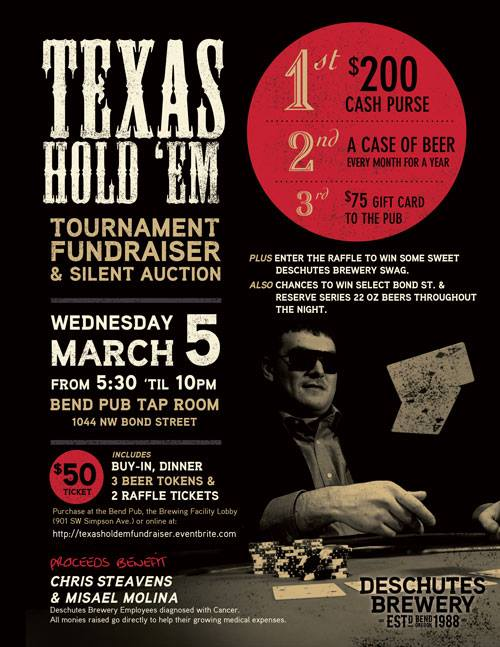 texas hold em poker tournament fundraiser with deschutes